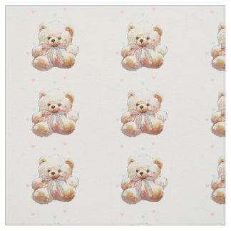 Matériel de tissu d'impression d'ours de nounours
