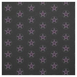 Matériel noir de tissu d'autel de pentagramme