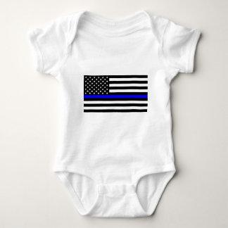 Matière bleue des vies - la police de drapeau des body
