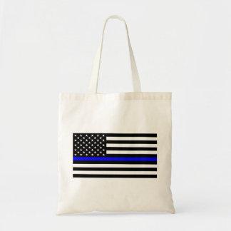 Matière bleue des vies - la police de drapeau des sac en toile budget