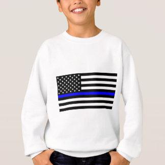 Matière bleue des vies - la police de drapeau des sweatshirt