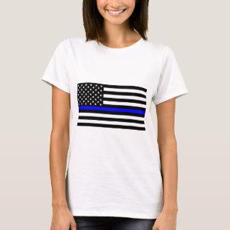Matière bleue des vies - la police de drapeau des t-shirt