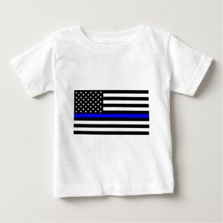 Matière bleue des vies - la police de drapeau des t-shirt pour bébé