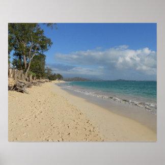 Matin de plage d'Oahu