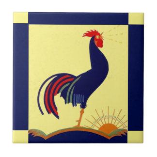 Matin Sun de corneille de coq d'art populaire de Petit Carreau Carré