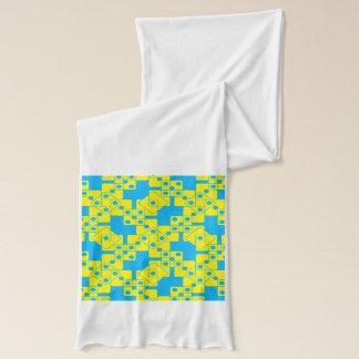 Matrices bleues écharpe