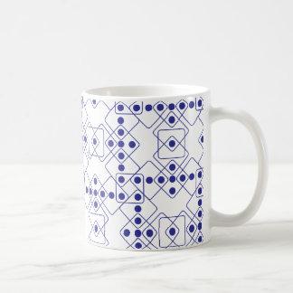 Matrices bleues mug blanc