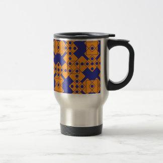 Matrices bleues mug de voyage