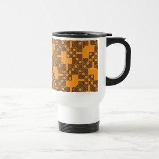 Matrices oranges mug de voyage en acier inoxydable