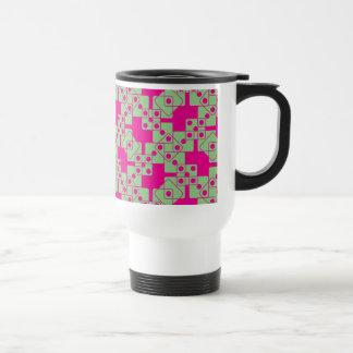 Matrices roses mug de voyage en acier inoxydable