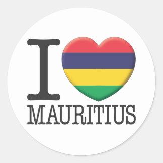 Mauritius Ronde Sticker