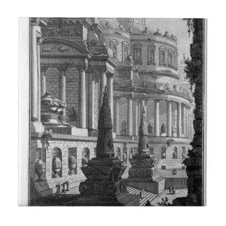 Mausolée antique érigé aux cendres d'un romain petit carreau carré
