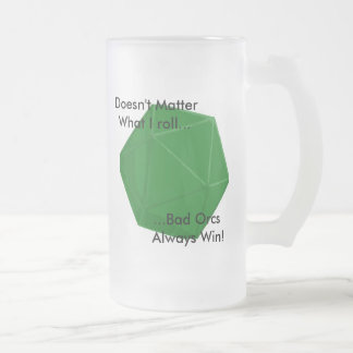 Mauvais Orc Frosted Glass Beer Mug