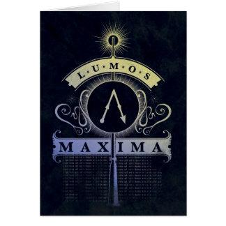 Maximum du charme   Lumos de Harry Potter Carte De Vœux