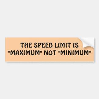 Maximum ou minimum de limitation de vitesse ? autocollant de voiture