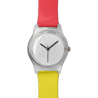 May28th montre rouge/jaune montres cadran