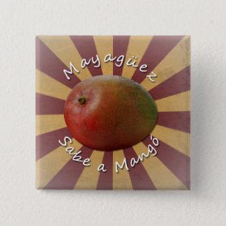 Mayagüez - Sabe une mangue Badge Carré 5 Cm