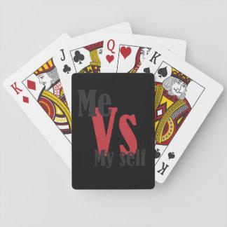Me versus Mijn zelf Pokerkaarten