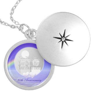 Médaillon Avec Fermoir 30ème Coeurs de perle d'anniversaire (cadre de