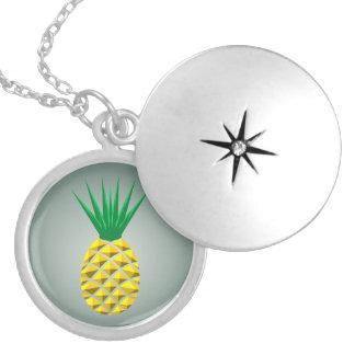 Médaillon Avec Fermoir Ananas géométrique
