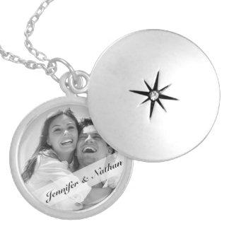 Médaillon Avec Fermoir Créez votre propre photo de monogramme de couples