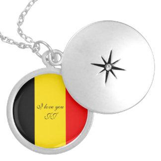 Médaillon Avec Fermoir Drapeau de la Belgique