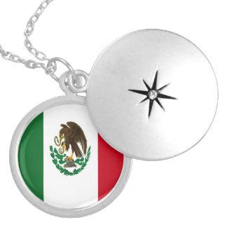 Médaillon Avec Fermoir Drapeau du Mexique