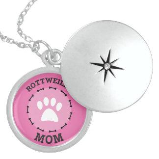 Médaillon Avec Fermoir Insigne de maman de rottweiler de cercle