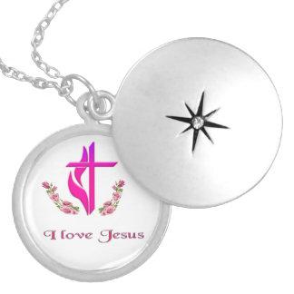 Médaillon Avec Fermoir J'aime des cadeaux de Jésus