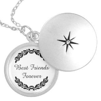 Médaillon Avec Fermoir Meilleurs amis pour toujours avec la crête de