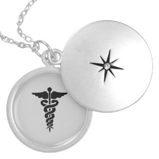 Médaillon Avec Fermoir Symbole médical soignant