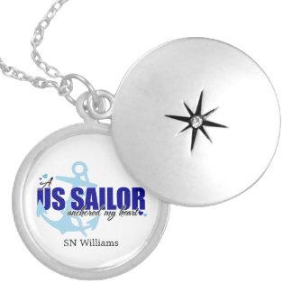 Médaillon Avec Fermoir Un marin a ancré mon coeur