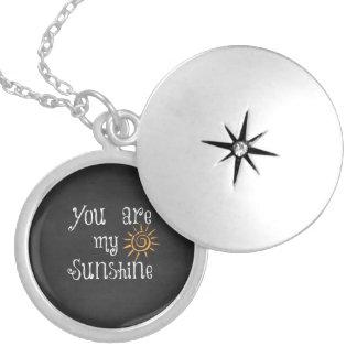 Médaillon Avec Fermoir Vous êtes mon soleil