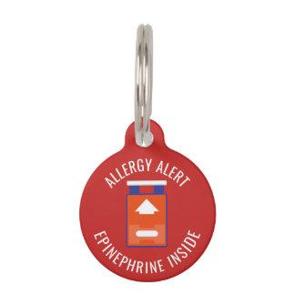 Médaillon Pour Animaux Adrénaline d'alerte d'allergie d'enfants à