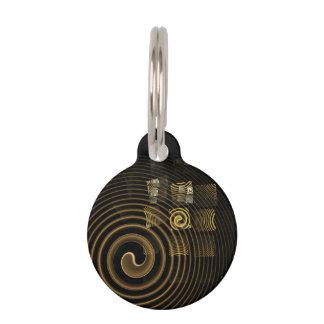 Médaillon Pour Animaux Art abstrait d'hypnose rond