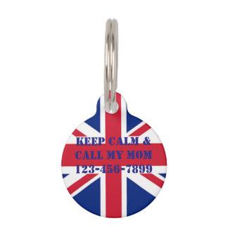 Médaillon Pour Animaux cric britannique vintage moderne des syndicats de