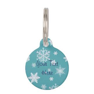 Médaillon Pour Animaux Étiquette d'animal familier de flocon de neige