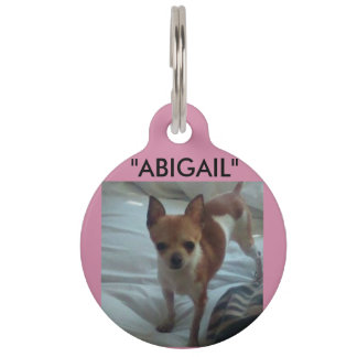 Médaillon Pour Animaux Étiquette de chien d'Abigaïl