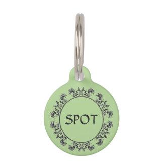 Médaillon Pour Animaux Étiquette de chien élégante pour le chiot