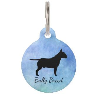 Médaillon Pour Animaux Étiquette de nom d'animal domestique de Bullterier