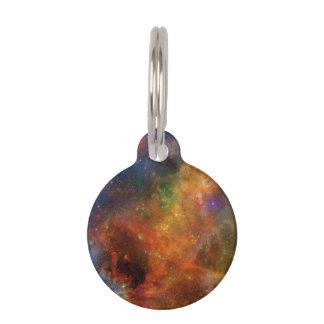 Médaillon Pour Animaux Étoiles et galaxies d'arc-en-ciel