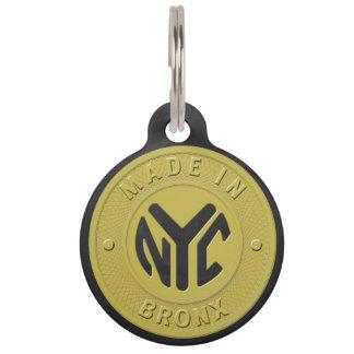Médaillon Pour Animaux Fait à New York Bronx