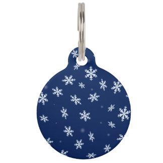 Médaillon Pour Animaux Flocons de neige