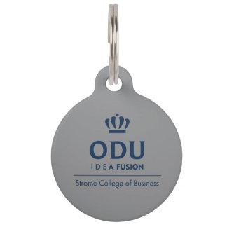 Médaillon Pour Animaux Logo empilé par ODU - bleu
