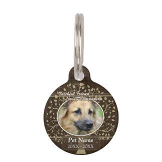 Médaillon Pour Animaux Sympathie faite sur commande d'animal familier