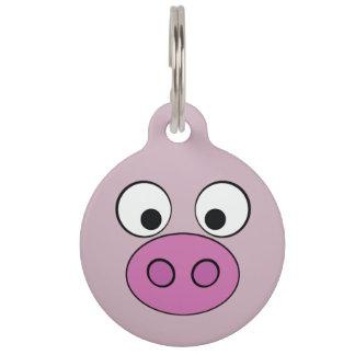 Médaillon Pour Animaux Visage porcin