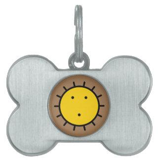 Médaillons Pour Animaux Domestiques le soleil de kwakiutl