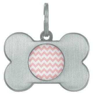 Médaillons Pour Animaux Domestiques Motif rose de Chevron de rayures de zigzag Girly