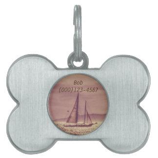 Médaillons Pour Animaux Domestiques Navigation à travers la mer d'or