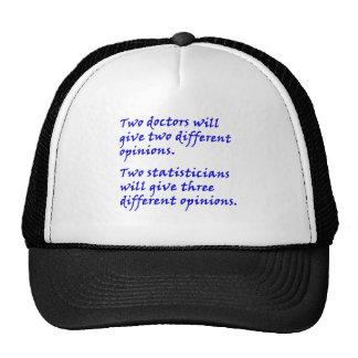 Médecin et statisticien casquette trucker
